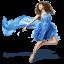 Girls-Blue-Dress-icon